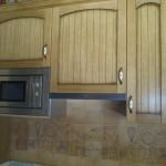 Detalle  cocina en  Madera maciza