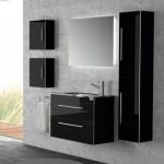 Mueble  Baño - Negro  Brillo