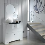 Mueble  Zapatero y  espejo - Lacado Blanco brillo