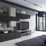 Mueble  Salón  Apilable  Color  Blanco  y  Gris