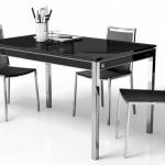 Mesa  cocina Tapa Cristal - Extensible los laterales