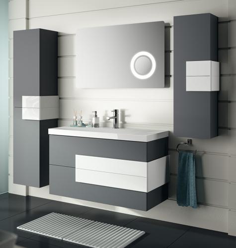 Baños Grises Modernos:suspendido gris antracita mueble baño tebas colgado mueble baño gris