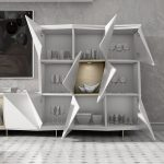 Detalle mueble Salón Cubos